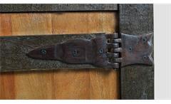 Lowboard Fortezza TV-Board Unterschrank Schrank recyceltes Massivholz mit Eisen