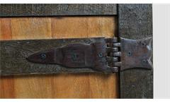 Nachtkommode Fortezza Nachtschrank Kommode recyceltes Massivholz mit Eisen