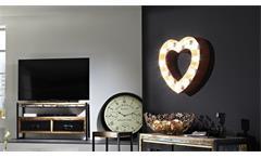 """Wandleuchte """"Herz"""" aus Stahl rot Retro Lampe herzförmig 51x48 cm"""