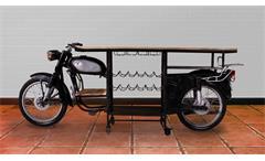 Barschrank Curtis Altholz schwarz Metall Weinschrank recyceltes Motorrad SIT Möbel