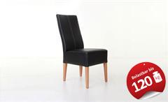 Stuhl TONY Polsterstuhl Esszimmerstuhl in schwarz und Buche