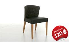 Stuhl SOFIA toller Polsterstuhl in Braun mit massiver Buche