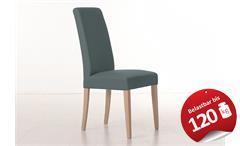 Stuhl SAMIRO 1 Polsterstuhl Esszimmerstuhl in grau und Sonoma Eiche
