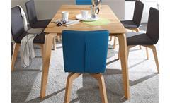 Esstisch Liam 1XL Esszimmertisch Tisch in Kernbuche massiv lackiert 140-185 cm