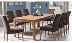 Esstisch Kuaro 1XL Esszimmertisch Tisch in Eiche natur massiv geölt 160-210 cm