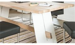 Esstisch ALADIN Eiche Bianco massiv und weiß lackiert Tisch 180x95 cm Esszimmer
