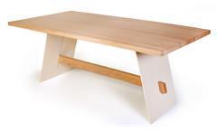 Esstisch ALADIN Tisch 200x95 cm Eiche Bianco massiv und weiß lackiert Esszimmer