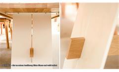Esstisch ALADIN Tisch 180x95 cm Eiche Natur massiv und weiß lackiert Esszimmer