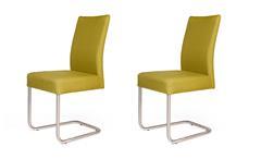 2er Set Schwingstuhl KADIRA Stuhl in Grand lemon