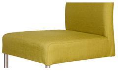 2er Set Schwingstuhl KADIRA Freischwinger in Grand lemon Stuhlset Stuhl