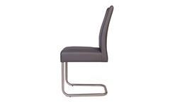 2er Set Schwingstuhl KADIRA Freischwinger Stuhlset Stuhl in Kaiman grau