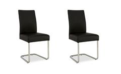 2er Set Schwingstuhl KADIRA Stuhl in Kaiman schwarz