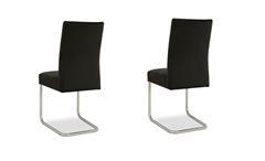 2er Set Schwingstuhl Kadira Stuhl in Kaiman schwarz Freischwinger Stuhlset