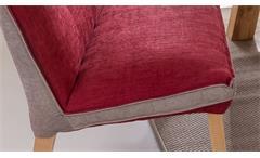 Polsterbank Sitzbank Bank Genua 1 System Stoff rot beige mit Kaltschaum 199 cm