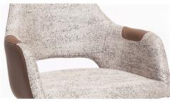 Sessel Rimini Polstersessel Stuhl Esszimmer in Eiche Natur Bezug grau blau
