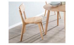 Holzstuhl Noci 1 Stuhl Küchenstuhl Esszimmer Stuhlsystem Kernbuche massiv geölt