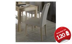 Stuhl Samiro 2 Polsterstuhl Esszimmerstuhl in schlamm und Sonoma Eiche Holzgriff