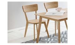 Holzstuhl Noci 1 Stuhl Küchenstuhl Esszimmer Stuhlsystem Eiche massiv geölt