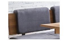 Rückenkissen Stockholm für Eckbank Klemmkissen Kissen in Stoff grau 51 cm