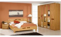 Schlafzimmer SARAH Erle teilmassiv 5-türiger Kleiderschrank Steffen Möbel