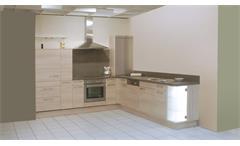 Einbauküche Schüller Ausstellungsküche Akazie Graphit mit E-Geräten