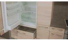 Einbauküche Schüller Ausstellungsküche Küche Akazie Natur Graphit mit E-Geräte