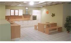 Einbauküche Schüller Ausstellungsküche weiß Buche E-Geräte