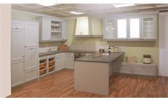 Einbauküche Schüller Ausstellungsküche Küche in grau und Schiefer mit E-Geräte