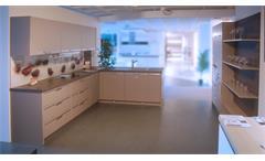 Einbauküche Schüller Ausstellungsküche Küche in Champagner und braun mit E-Geräte