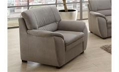 Sessel GINGER Sofa TV Sessel Einzelsessel in Grau