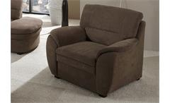 Sessel GINGER Sofa TV Sessel Polstermöbel in braun