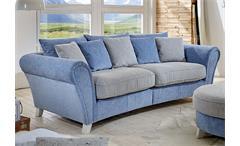 Big Sofa CALIA Martha hellblau Spectra creme 257x120