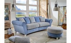Big Sofa Calia Couch Polstermöbel Martha hellblau und Spectra creme 257x120