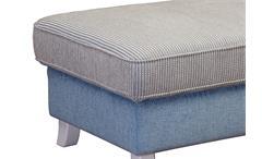 Hocker Calia Sitzhocker Polstermöbel Martha hellblau und Spectra creme 103x74