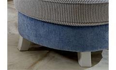 Hocker Calia Sitzhocker Polstermöbel Martha hellblau und Spectra creme 76x76