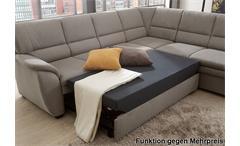 Ecksofa Ginger in grau Ottomane rechts 3-sitzer Sofa links mit Federkern