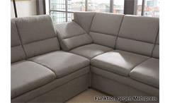 Ecksofa Ginger in grau Ottomane links 3-sitzer Sofa rechts mit Federkern