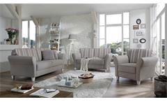 Sofagarnitur Baltrum Sofa Garnitur Polstermöbel in beige im Landhaus Stil