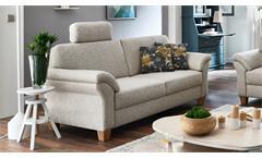 Sofa BORKUM 3-Sitzer in Stoff natur mit Federkern 186 cm Landhausstil