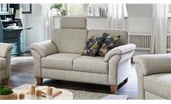 Sofa BORKUM 2-Sitzer in Stoff natur mit Federkern 156 cm Landhausstil