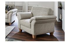 Sessel BORKUM 1-Sitzer Stoff natur mit Federkern 101 cm Landhausstil