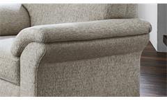 Sessel Borkum 1-Sitzer Einzelsessel in Stoff natur Federkern 101 cm Landhausstil
