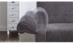 Sofa Paisley 3-Sitzer Küchensofa Stoff beige blau Federkern Armteilverstellung