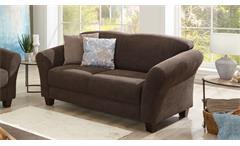 Sofa GOTLAND 2-Sitzer Couch Stoff espresso braun inkl Federkern 163 cm