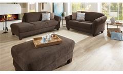 Sofa Gotland 2-Sitzer 2er Couch in Stoff espresso braun inkl. Federkern 163 cm