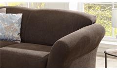 Garnitur Gotland Sofa Recamiere 2-teilig Stoff esspresso braun inkl. Federkern