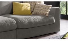 Big Sofa Megasofa 3-Sitzer XXL Couch Fulton Loungesofa in Stoff savannah 274 cm