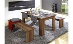 Tischgruppe CORPORAL Bank und Tisch in walnuss Dekor