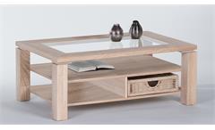 Couchtisch Lazy Wohnzimmertisch Beistelltisch Tisch in Sonoma Eiche 102 cm