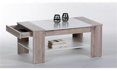 Couchtisch Finley Plus Tisch in Sandeiche und weiß mit 1 Schubkasten 100x58 cm